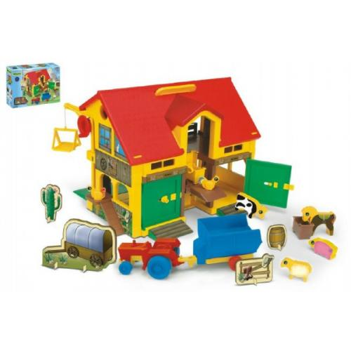 Domeček Farma stáj 40x35cm v krabici 59x40x15cm Wader