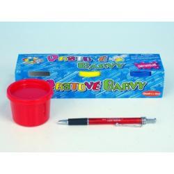 Prstové barvy omyvatelné 3 barvy v krabičce 23x5x6cm 3+