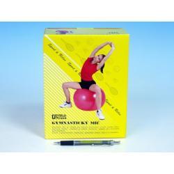Gymnastický míč 85cm rehabilitační relaxační 4 barvy v krabici 18x22cm