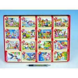 A-08521-B Minipuzzle Pohádky 54 dílků 16,5x11cm asst 8 druhů v krabičce 32ks v boxu