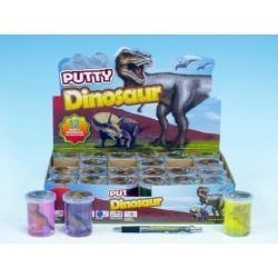 Sliz - hmota dinosaurus 6cm asst 6 barev 24ks v boxu