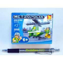 Stavebnice Dromader Vrtulník 25102 33ks v krabici 9,5x7x4,5cm