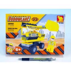 Stavebnice Dromader Auto Bagr 29406 104ks v krabici 22x15x4,5cm