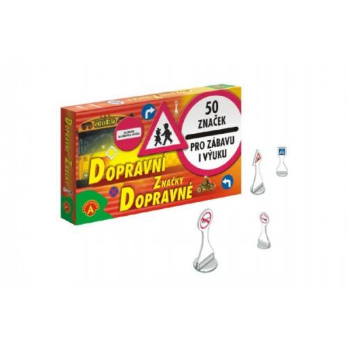 Dopravní značky společenská hra v krabici 25x14cm 5+