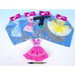 Šaty/Oblečky krátké na panenky asst v sáčku 22x30cm