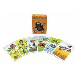 Kvarteto Krtek 2 společenská hra - karty v papírové krabičce 6x9cm