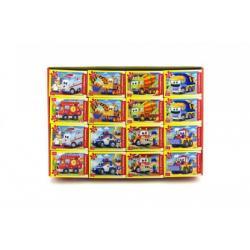 A-08521-BP Minipuzzle Pohádková auta 54 dílků 16,5x11cm asst 8 druhů v krabici 32ks v boxu
