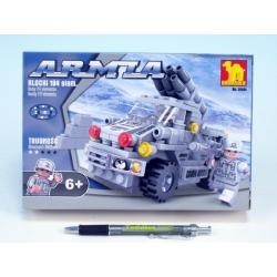 Stavebnice Dromader Vojáci Auto 22401 194ks v krabici 22x15x4,5cm