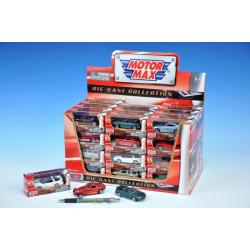 Auto Mini kov 7cm asst 12 druhů v krabičce 48ks v boxu