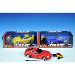 Auto RC I-DRIVE plast 25cm s ovládacím náramkem plná funkce na baterie se světlem 3 barvy v krabičce