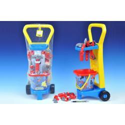 Vozík s nářadím plast 60x25x20cm s doplňky v síťce Wader