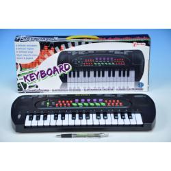 Piánko/Varhany plast 32 kláves 40cm na baterie v krabici